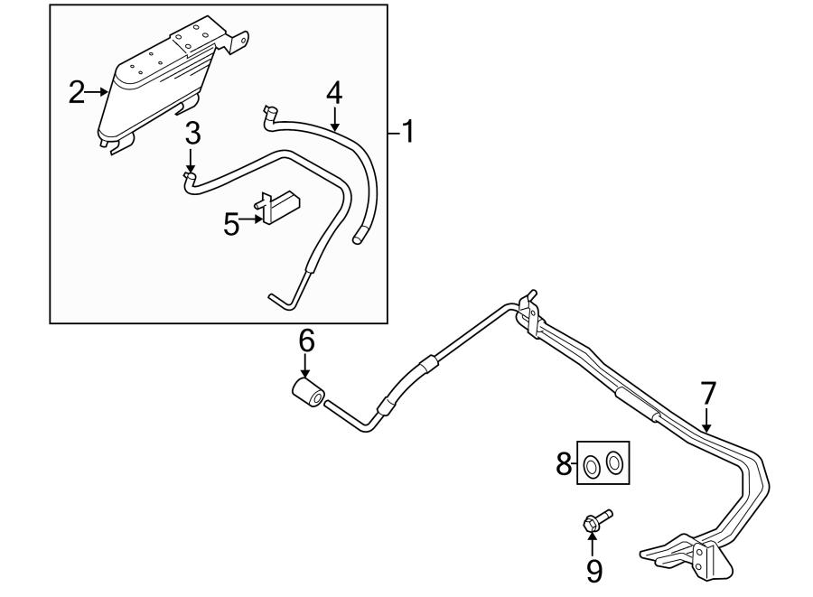 Ford Explorer Automatic Transmission Oil Cooler Hose