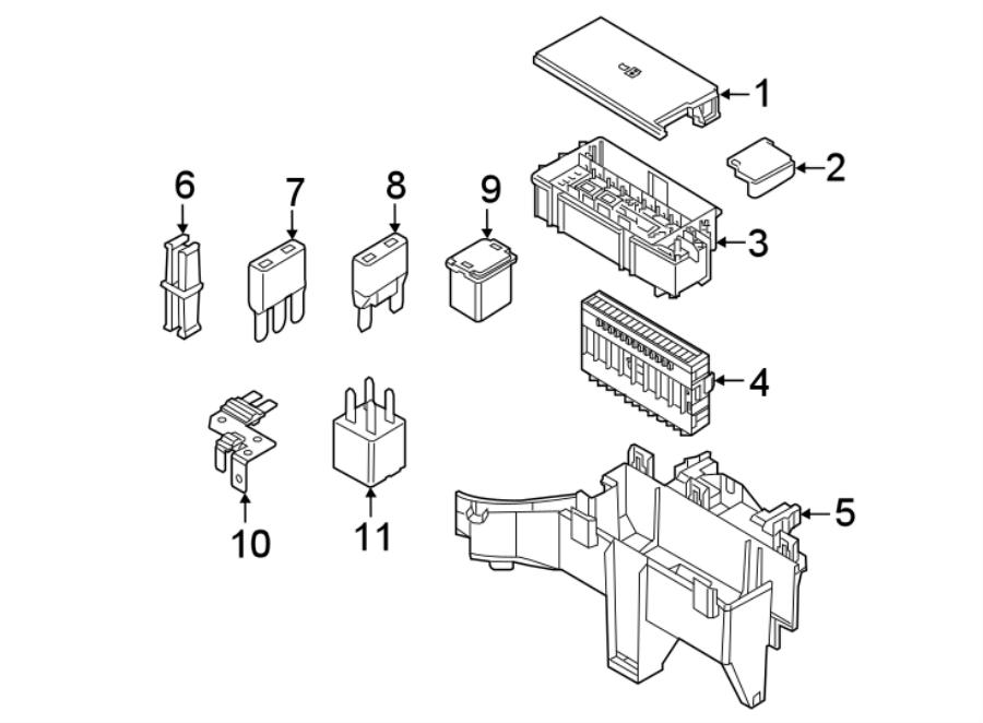 Ford Explorer Accessory Power Relay. Amp, Terminal, ENGINE