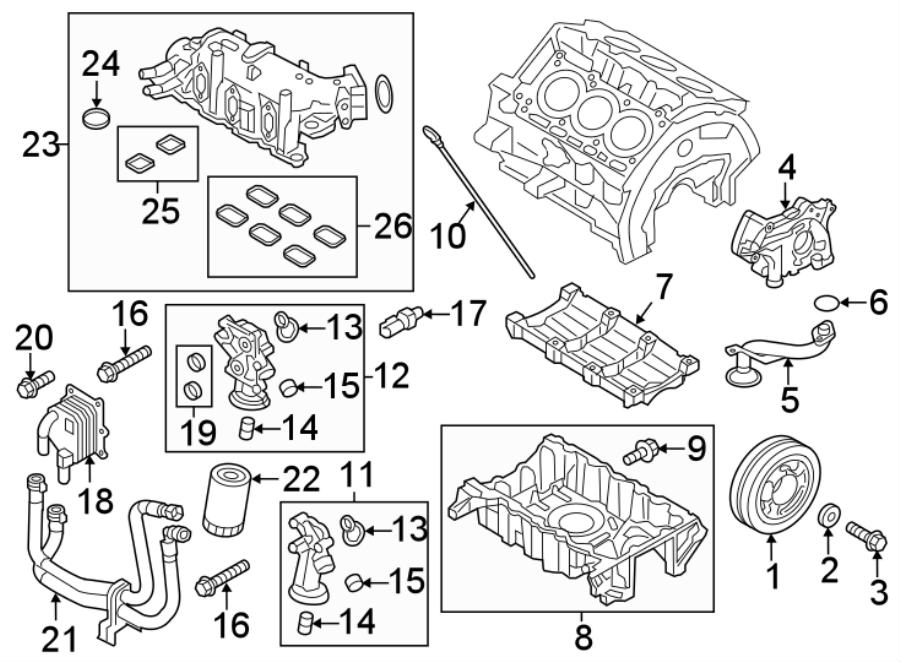 Ford Explorer Hose. Engine. Cooler. Coolant. Line. Oil