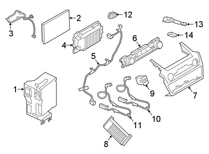 Ford Explorer Bezel. Receiver, sandstone, interface