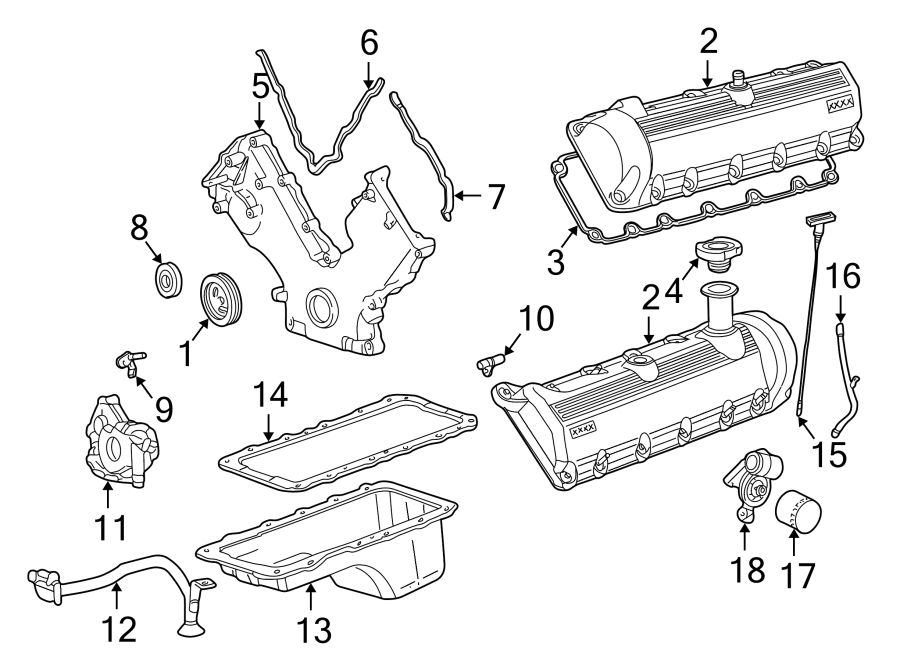 Ford Excursion Engine Valve Cover Gasket. 6.0 LITER TURBO