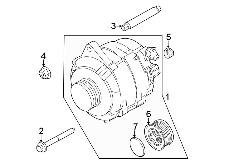 Ford Transit-350 Alternator Nut. LITER, DUAL, Alternators