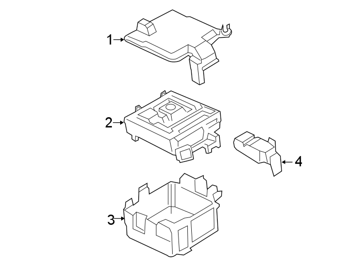 Ford Transit-150 Fuse Box. Non, Liter, ENGINE, COMPARTMENT