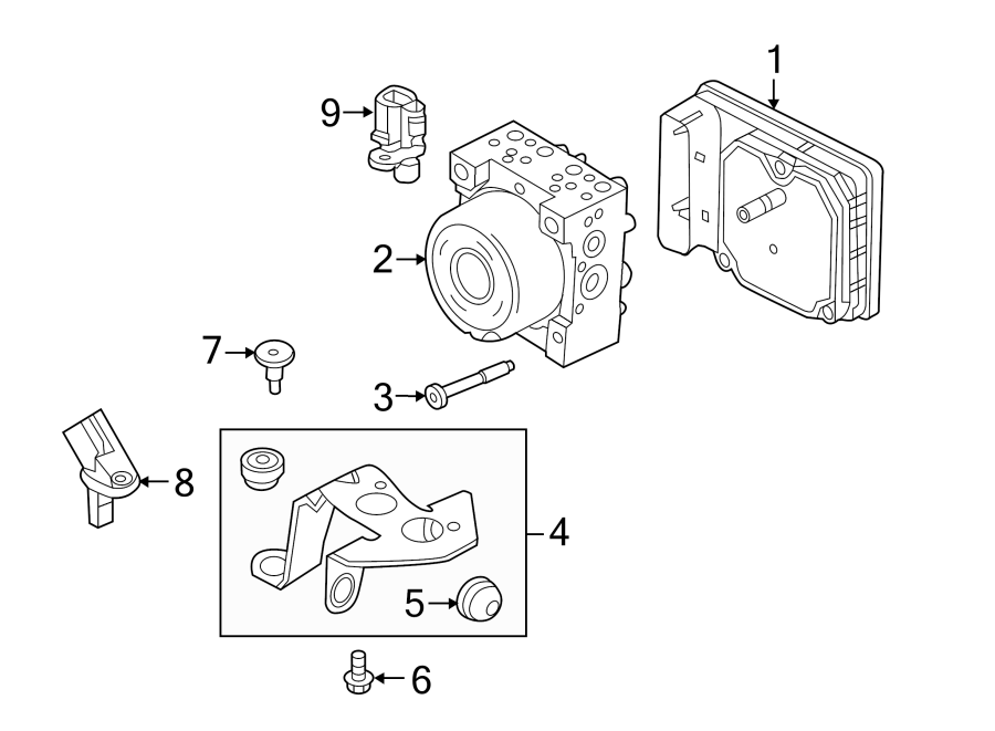 Lincoln MKC Abs control module. Light, repair, warning