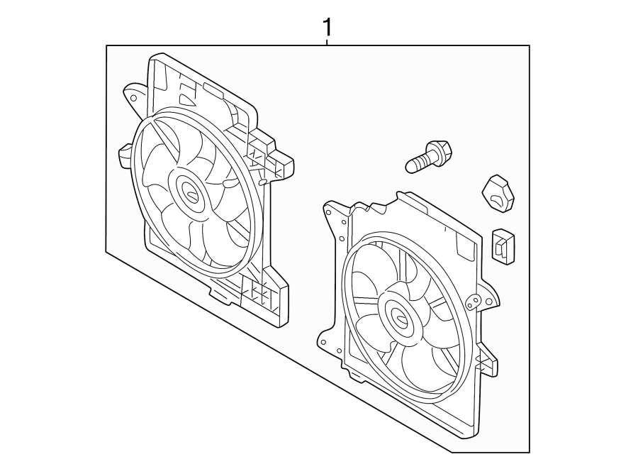 Ford Escape Engine Cooling Fan Assembly. RADIATOR
