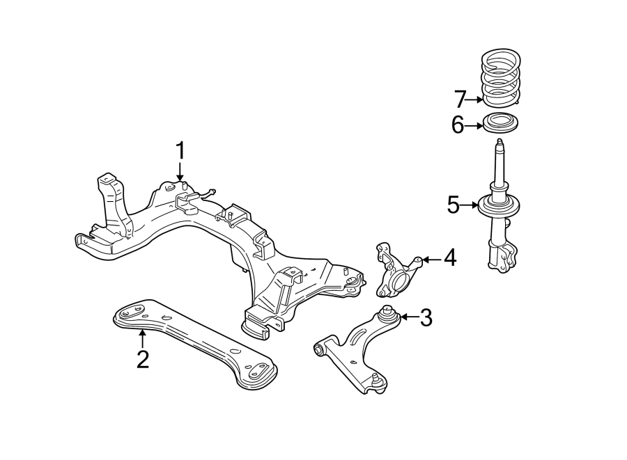 Ford Escape Steering Knuckle. SUSPENSION, Right, Front