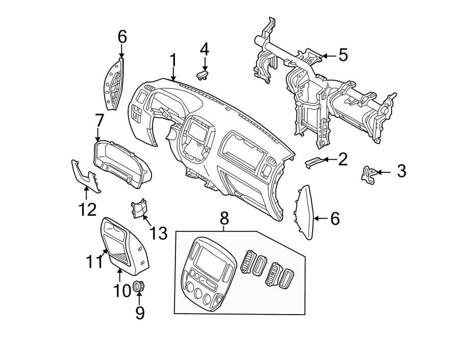 Ford Escape Instrument Cluster Bezel. All. Ebony. Xls, Xlt