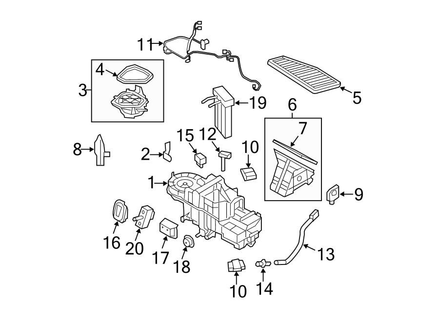 Ford Escape A/c evaporator temperature sensor. Air