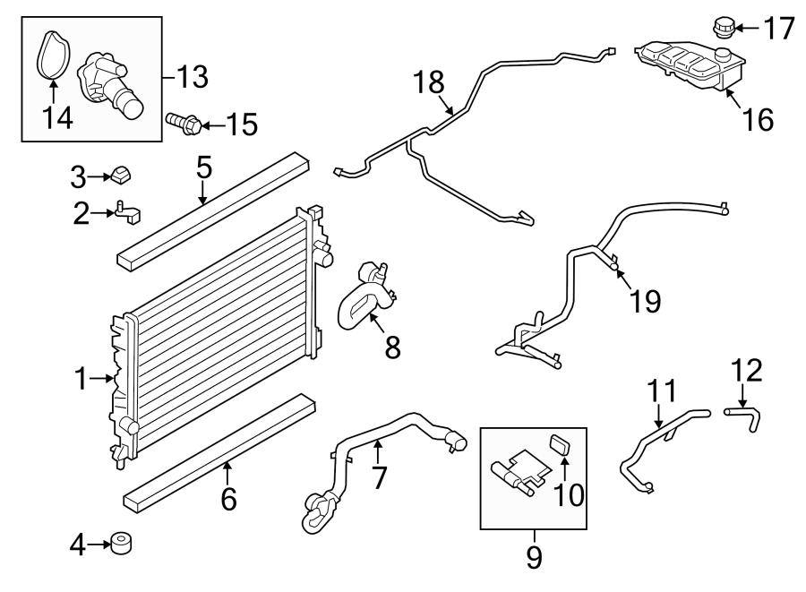 Ford Escape Engine Coolant Reservoir Hose. 2.5 LITER