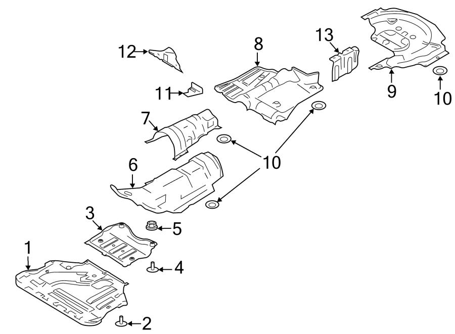Ford Escape Fuel Tank Shield. Front, LITER, PartQualifier