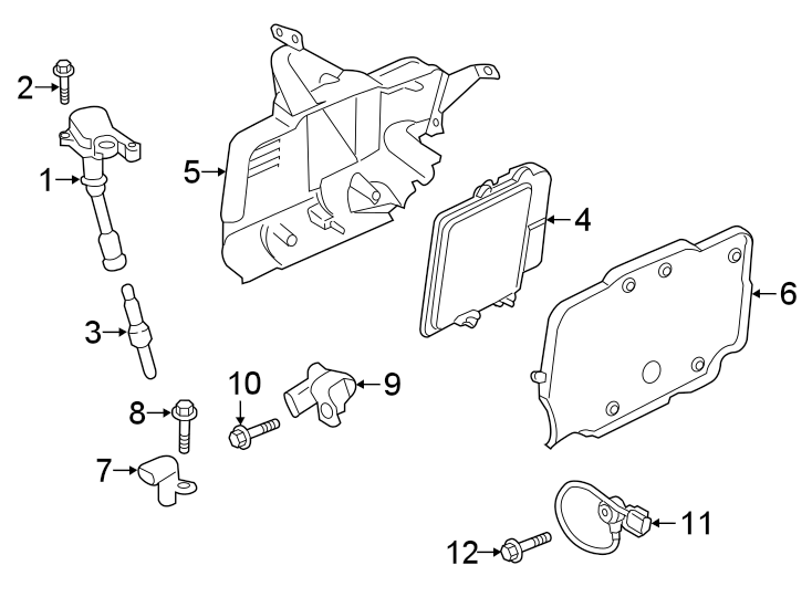 Ford Escape Ignition Knock (Detonation) Sensor. Engine