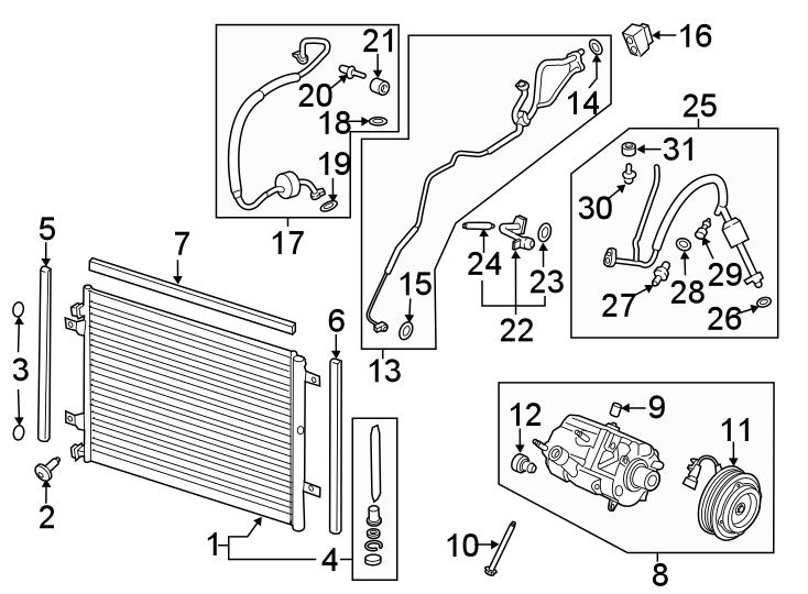 Ford F-350 Super Duty A/c compressor clutch. Liter