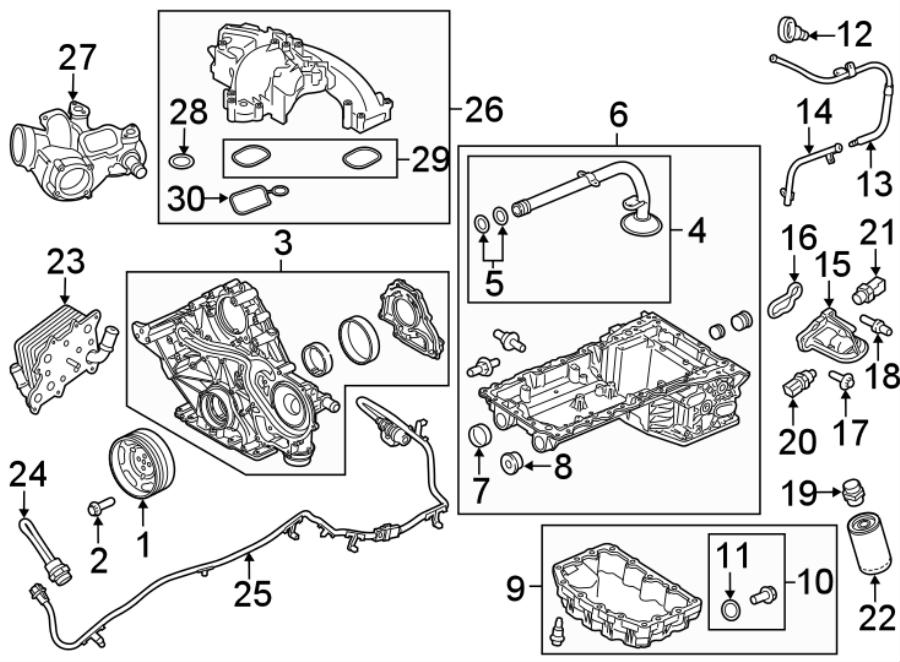 Ford F-350 Super Duty Engine Sealant. # 1. 6.7 LITER, # 1