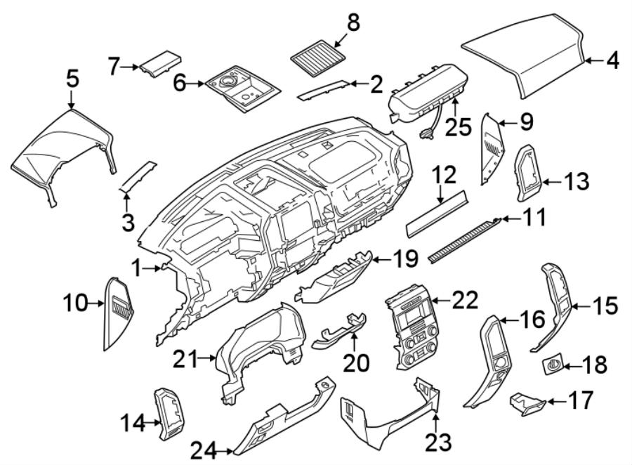 Ford F-350 Super Duty Dashboard Panel. INSTRUMENT, Make