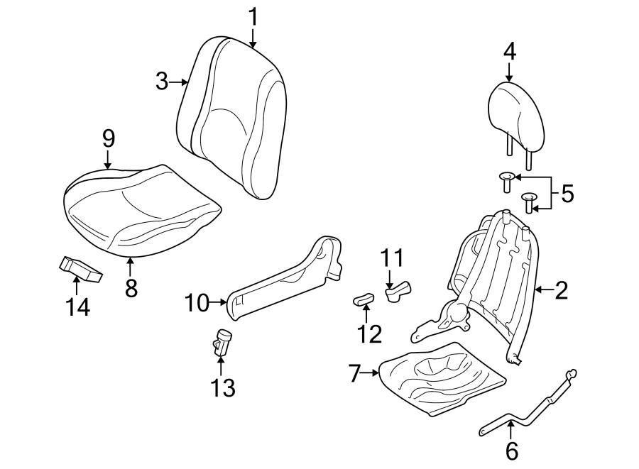 Mercury Mariner Seat Track Adjust Handle. 2005-07. HIGH