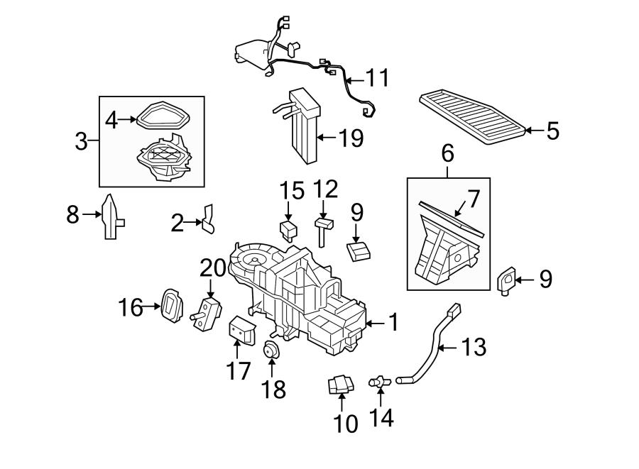 Mercury Mariner A/c evaporator temperature sensor. Air