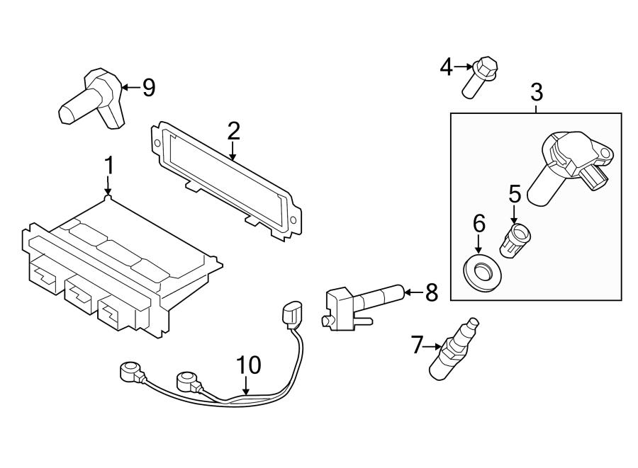 Ford Edge Engine Control Module. 3.5 LITER, code MVG1