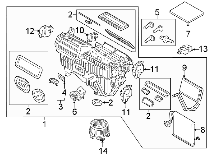 Ford Edge A/c expansion valve. Dual, zone, heater