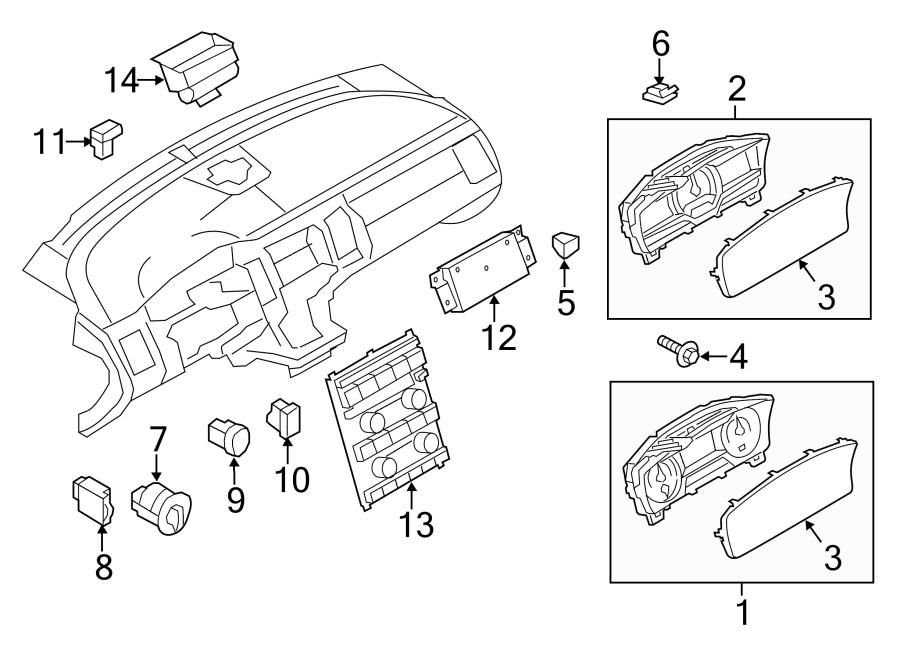 Ford Flex Instrument Panel Dimmer Switch. 2013-19. Flex