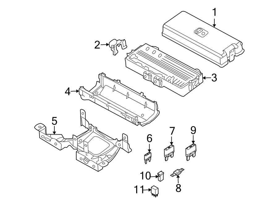 Lincoln Navigator Fuse. Amp, COMPARTMENT, Slide