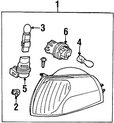 Mercury Villager Socket. Bulb. Lamp. 1998-2000, marker