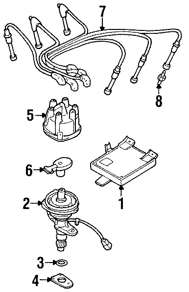 Mercury Villager Spark Plug. Telematics, SYSTEM, Lighting