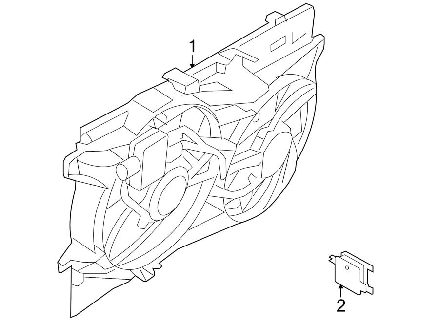 Lincoln MKX Engine Cooling Fan Assembly. RADIATOR, Pkg