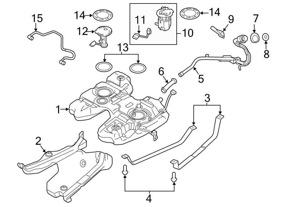 Lincoln MKX Filler pipe. Fuel Filler Neck. Fuel Tank Cap