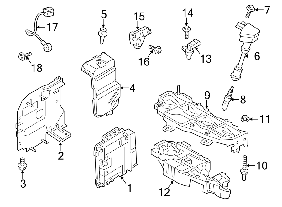 Ford Fiesta Engine Crankshaft Position Sensor. LITER
