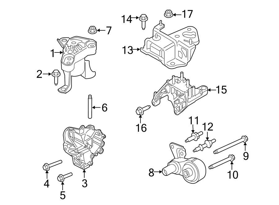 Ford Fiesta Engine Support Rod Stud. 1.6 LITER TURBO