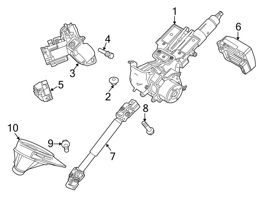 Ford Fiesta Steering Column Switch Housing. Suspension