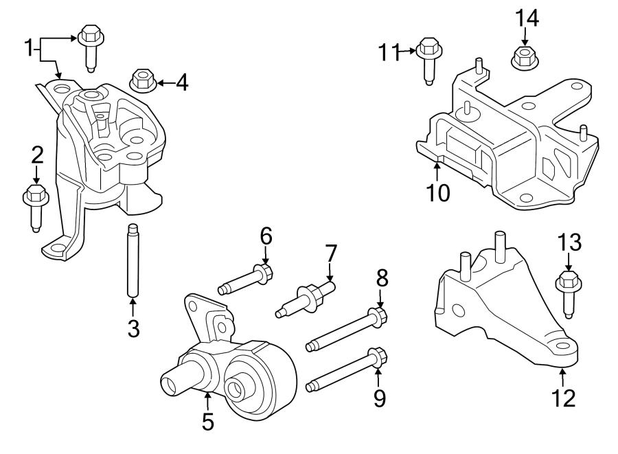 Ford Fiesta Engine Support Rod. 1.0 LITER. Fiesta