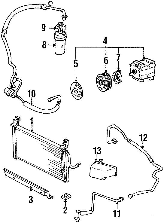 Mercury Tracer A/c compressor clutch coil. Liter, air