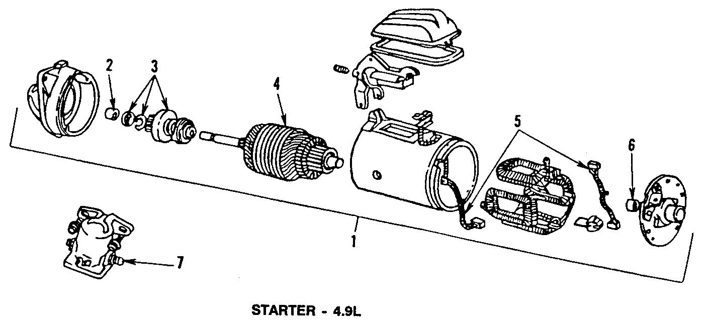 Ford E-150 Econoline Starter Motor. Trans, Manual, Vans
