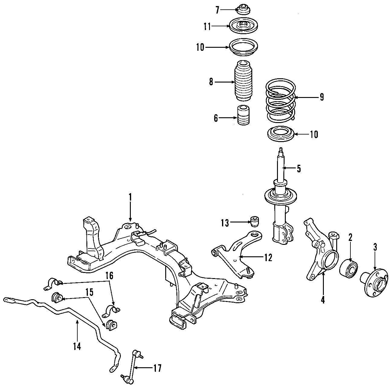 Mercury Mariner Coil Spring. Suspension, Code, Springs