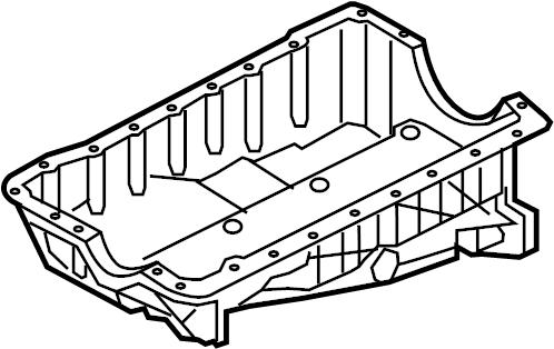 Ford Explorer Engine Oil Pan. Upper, LITER, Sensor