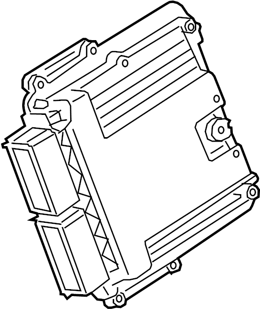 Ford F-350 Super Duty Engine Control Module. 2.3 LITER