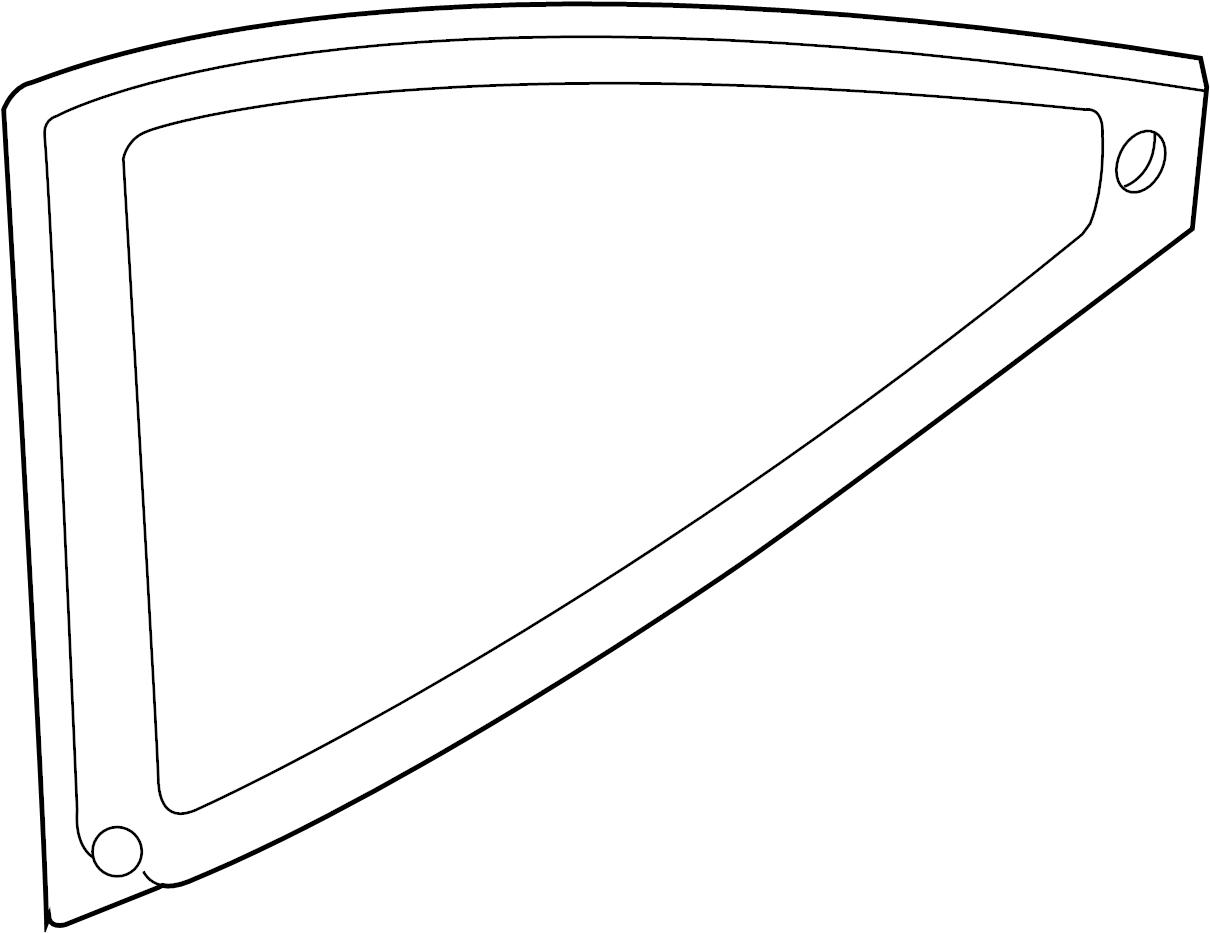 Mercury Sable Quarter Glass. Ford. Mercury. PANEL, Left