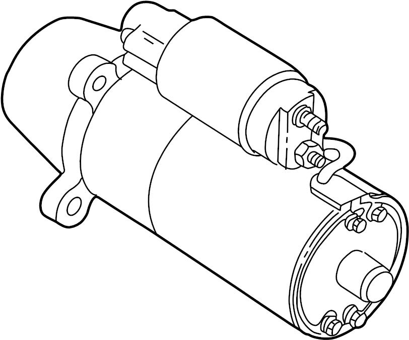 Ford Contour Starter Motor. Manual, Trans, Liter