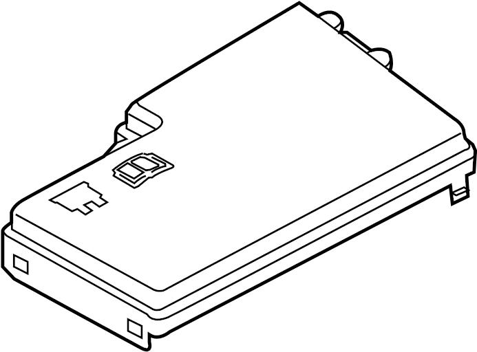Ford Escape Fuse Box Cover. ENGINE COMPARTMENT. Upper, Top