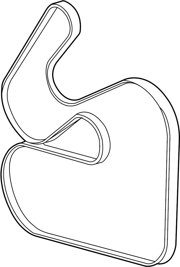Mercury Sable Serpentine Belt. LITER, Drive, OHV