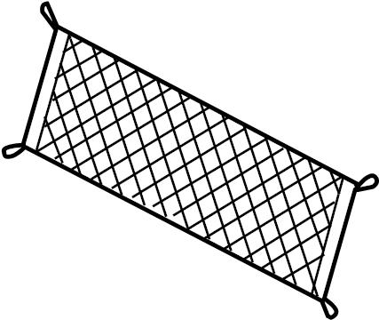 Mercury Sable Cargo Net. SE, SEL, LIMITED, SHO. Rear, BODY