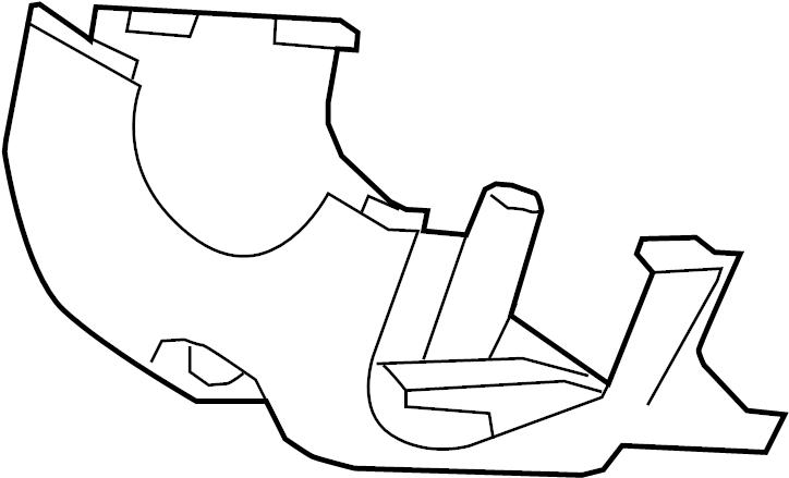 Ford Taurus Steering Column Cover. Tilt, Lower, Wheel