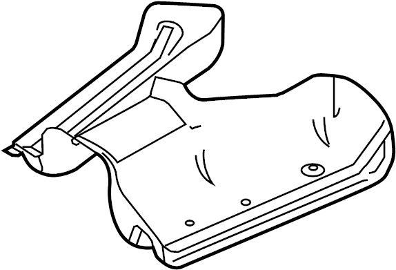 Mercury Sable Fuel Tank Shield. Heat, LITER, AWD
