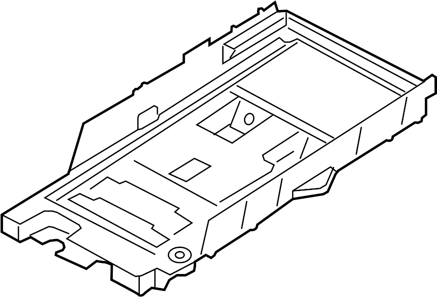 Ford Fusion Battery Tray. CONVENTIONAL, HYBRID, ENERGI