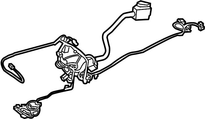 Ford Fusion Console Wiring Harness. LITER, Wkeyless, Start