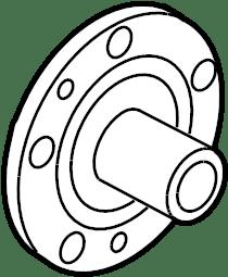 Mercury Milan Wheel Hub. SUSPENSION, AWD, CONTROL