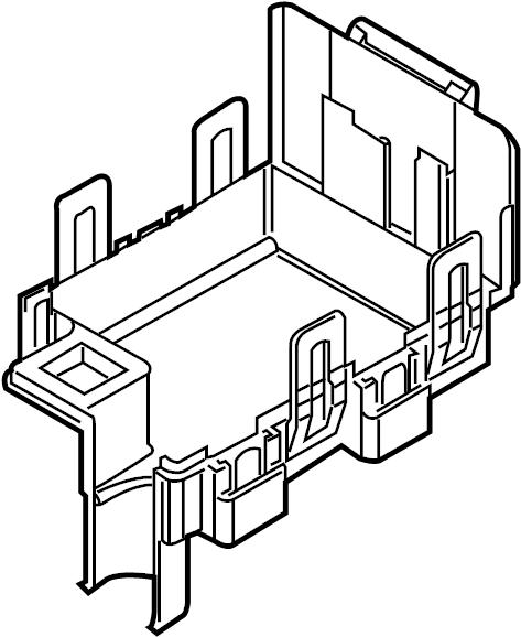 Mercury Milan Cover. Panel. Box. Fuse. Bottom. ENGINE