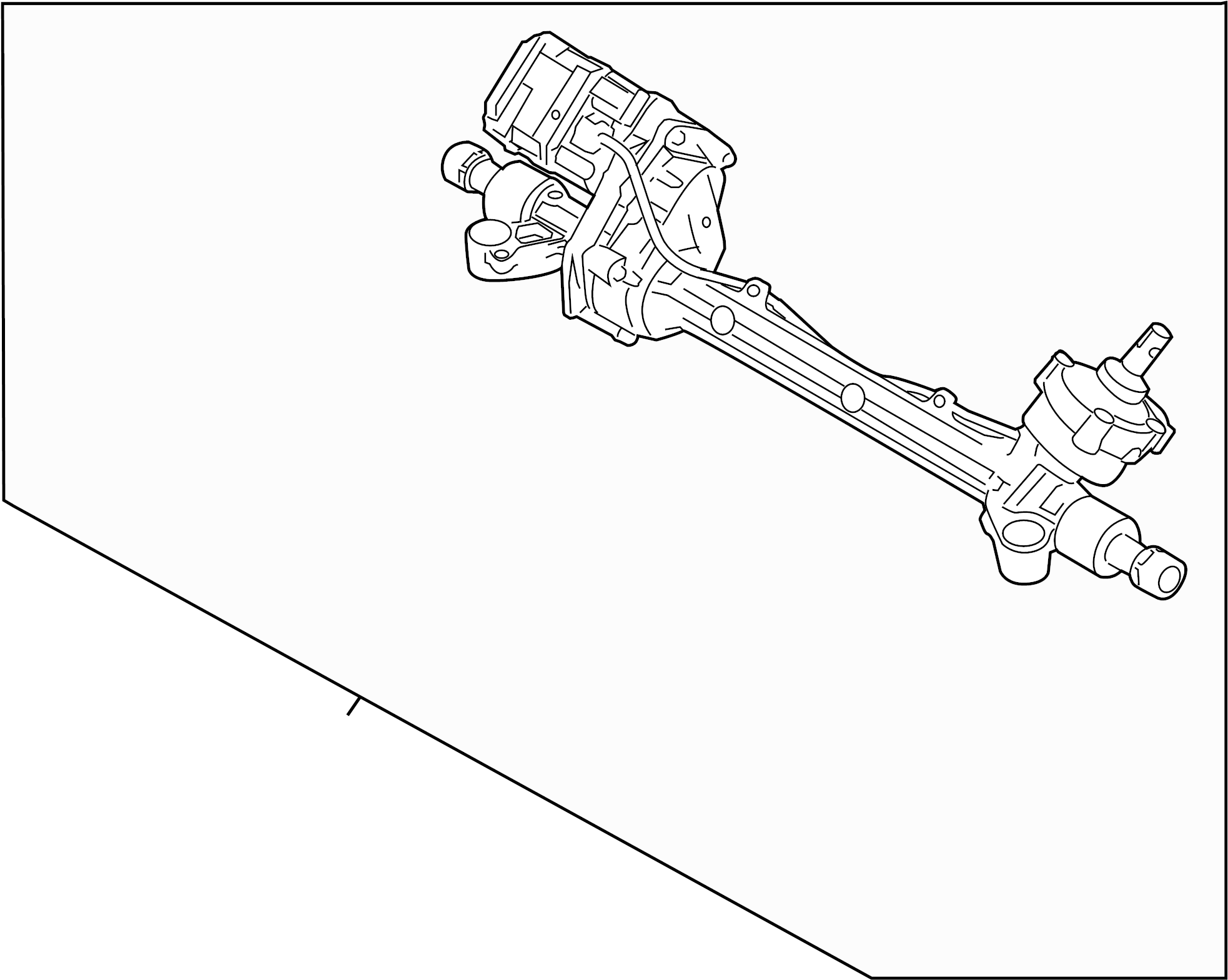 Mercury Milan Rack and Pinion Assembly. Steering, Hybrid