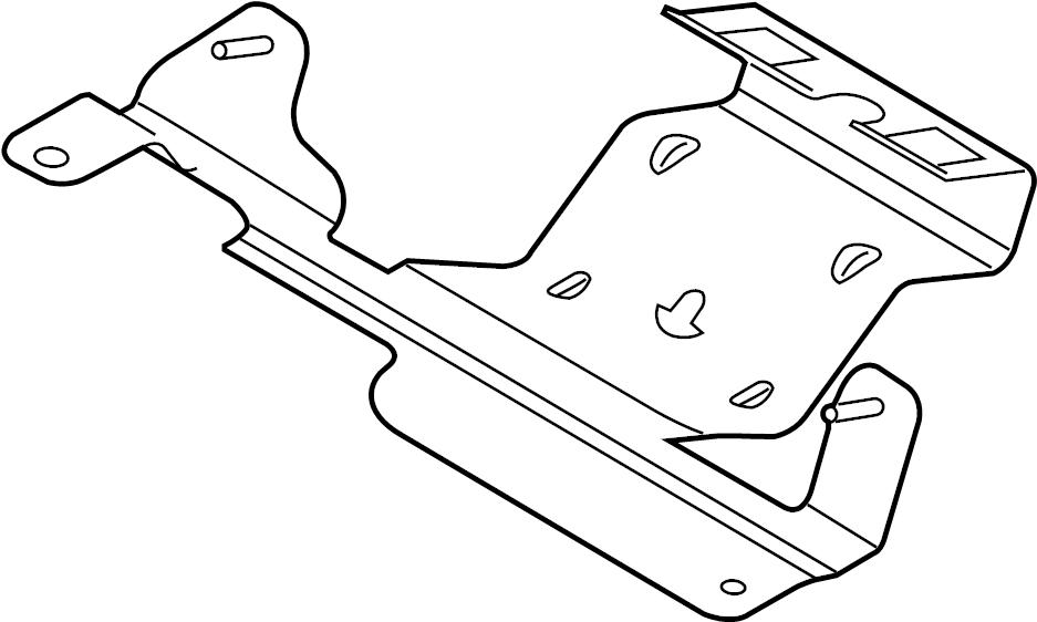 Ford Taurus Engine Control Module Bracket. LITER, Mount